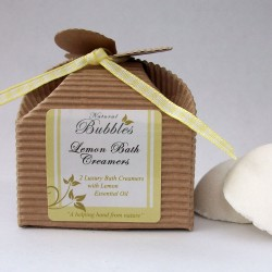 Natural Bubbles Lemon Bath Creamers