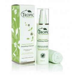 Tropic Skincare Smoothing Cleanser with Organic Bamboo Cloth 120ml