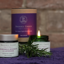 Brooke Green Remedies Chamomile, Rosemary & Lavender Travel Candle
