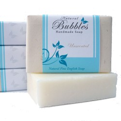 Natural Bubbles Unscented Soap 100g