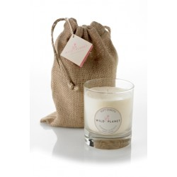 Wild Planet Soft Embers Scented Candle in Jute Bag 200g