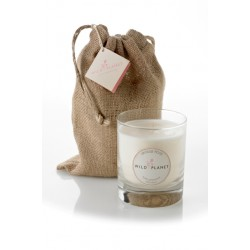 Wild Planet Vintage Rose Scented Candle in Jute Bag 200g