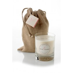 Wild Planet Warm Hug Scented Candle in Jute Bag 200g