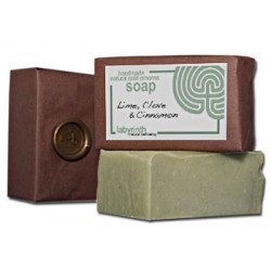 Labyrinth Soap Slice Lime, Clove & Cinnamon 100g