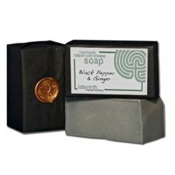 Labyrinth Soap Slice Black Pepper & Ginger 100g